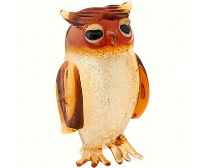 Collectible Blown Glass Creatures And Animals - Owl - Ma -58