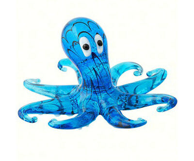 Collectible Blown Glass Creatures And Animals - Octopus  -Ma-054