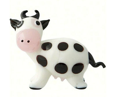 Collectible Blown Glass Creatures And Animals - Cow - Ma-074