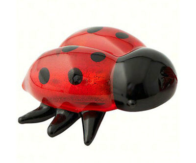 Collectible Blown Glass Creatures And Animals - Lady Bug - Ma-057