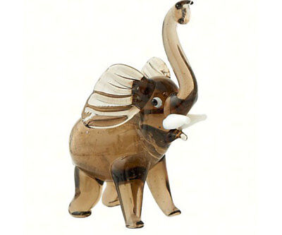 Collectible Blown Glass Creatures And Animals - Elephant - Ma-059
