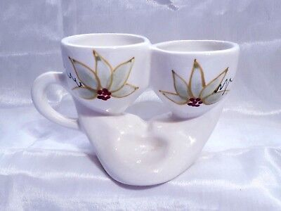 Vintage 1960's/1970's Toni Raymond Double Egg Cup With Handle & Space For Salt