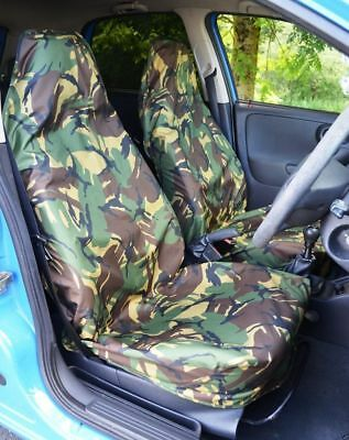 HD Green Camouflage Front Seat Covers For Nissan Qashqai 2007 - 2013