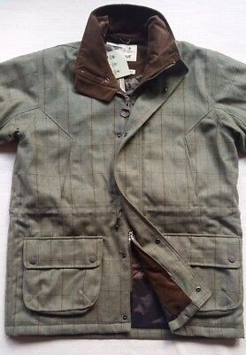 Barbour Sporting Men's Lightweight Tweed Washable Wool Shooting Jacket - Size L