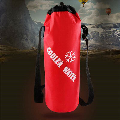 Insulated Bottle Cool Bag With Strap - Picnic Drinks Carrier Wine Cooler D