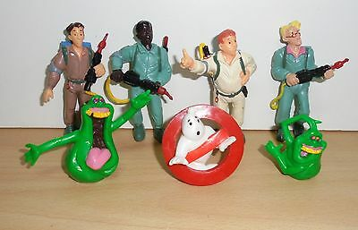 Complete Set - THE REAL GHOSTBUSTERS - 7 COLLECTIBLE PVC FIGURES