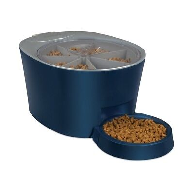 PetSafe Six Meal Automatic Pet Feeder, Dispenses Cat and Dog Food, Battery