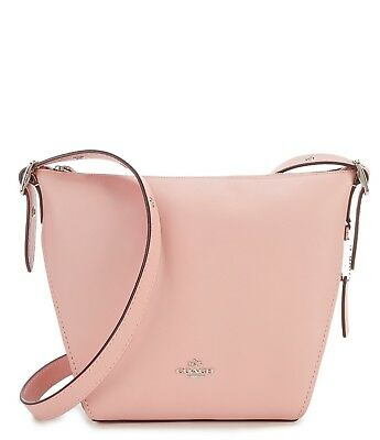 4d6ffd6924 Nwt  250 Coach Natural Calf Leather Small Dufflette Ice Pink  Silver  Hardware