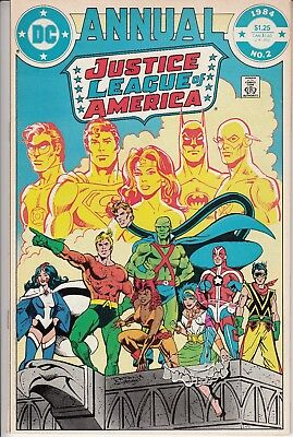 JUSTICE LEAGUE OF AMERICA ANNUAL #2 1st Appearance Vibe Gypsy Steel DC 1984
