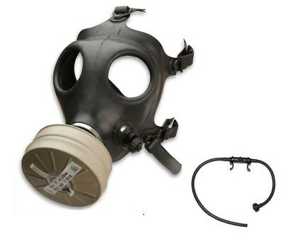 Israeli Gas Mask w/ New Authentic Sealed Military NBC NATO 40 mm Filter w/ Straw