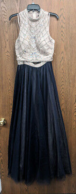 Macys Say Yes To The Prom Size 11 Tulle High Low Prom Dress Light