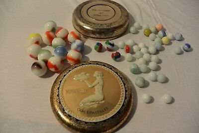 Old Antique Glass Mixed Marbles Lot Including Vintage Dutch Tin Akro Agate