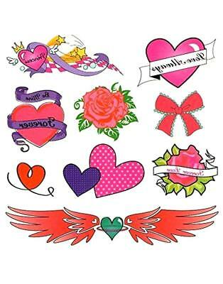 Pack Of 40 Designs Fake Pretend Temporary Childrens Tattoos For Girls
