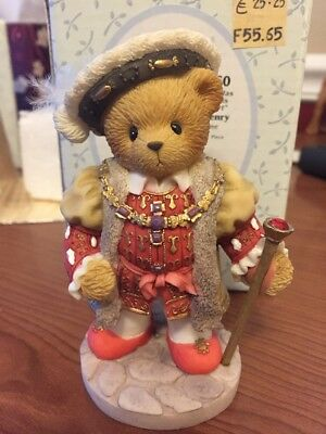"Cherished Teddies ""King Henry"" European Exclusive Figurine 2001"
