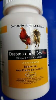 Gallos Dewormer - Desparasitante Eco Plus 100 tabs - Econovet
