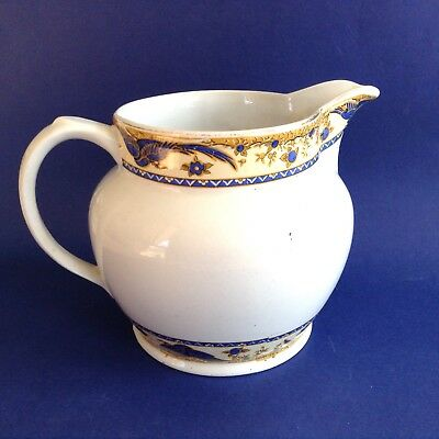 1920s RARE ART NOUVEAU BURGESS BROS WARE ENGLISH ANTIQUE POTTERY MEDIUM JUG