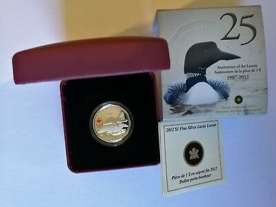 2012 Olympic Lucky Loonie Proof $1 Silver Coin