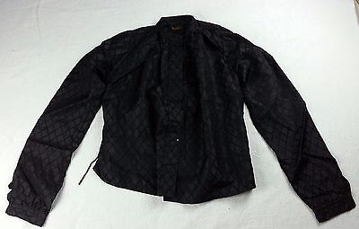 Victorian Era Excelsior Jacket Top Size Small Mourning Black Quilted Pattern