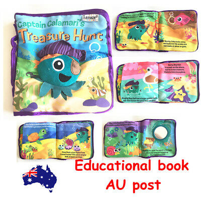 Calamari Book Kid Child Baby Toddler Interactive Education Soft Cloth Book Toy