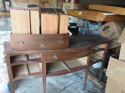 Excellent Early 20th Century Serpentine Front Sideboard Ready for Restoration