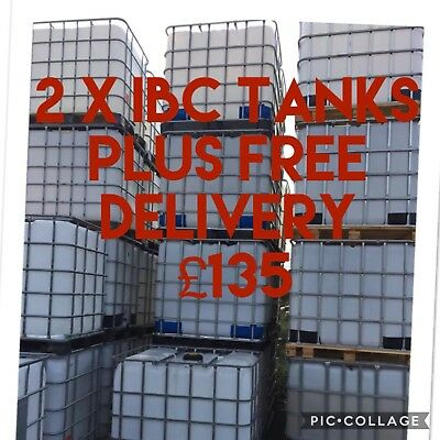 2 X Water Containers Plus Free Delivery £135 1000 Litres Water Bowser