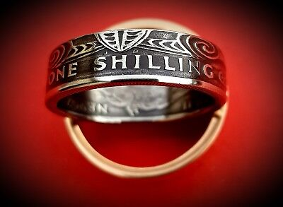 New Zealand One Shilling 1967 Coin Ring