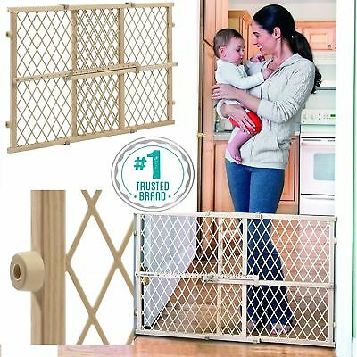 Baby Gate Safety Fence Child Protection Wood Door Dog Cat Pet Lock Barrier