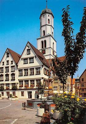 Biberach an der Riss Strasse Brunnen Statue Church Tower