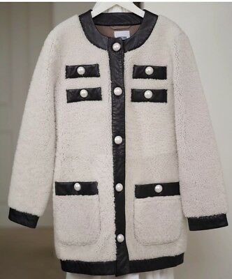 Authentic Moschino Sheepskin And Leather Coat RRP $3500