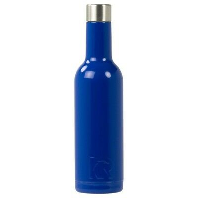 (375 mL, Royal Blue) - RTIC Double Wall Vacuum Insulated Wine Bottle (Royal