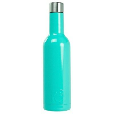(375 mL, Teal) - RTIC Double Wall Vacuum Insulated Wine Bottle (Teal, 375 mL)