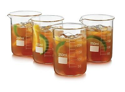 Libbey 4 Piece Beaker Set, Clear. Delivery is Free