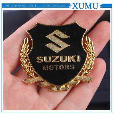 3D Metal Wheat  Logo Car Emblem Fender Side Badge Sticker fit for Suzuki Silver