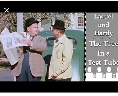 """Super 8 Cine Film """"Laurel & Hardy In The Tree In A Test Tube"""" 200ft Colour/sound"""