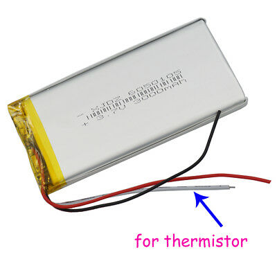 3.7V 3000mAh Polymer Li battery Lipo thermistor 3 wire 6050105 For PAD tablet PC