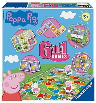 Ravensburger Puzzle Peppa Wutz, 6 in 1 Spiele.