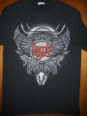 Lamb Of God- Wings And Chains Lic OOP- Black T-Shirt- Medium