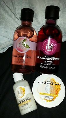 The Body Shop Lot 2 (4 items) Bodywashes & Body Butter Free Postage