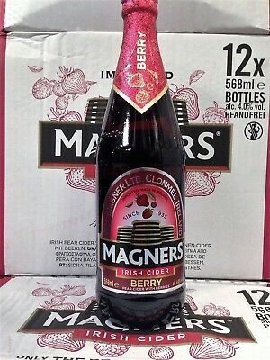 Magners Berry Irish Cider 4,0% 12x 0,568l - Glasflasche