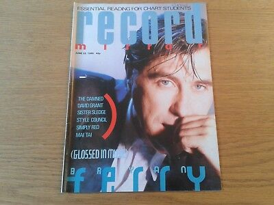 1985 RECORD MIRROR 22nd June Bryan Ferry, The Damned, Style Council, Simply Red