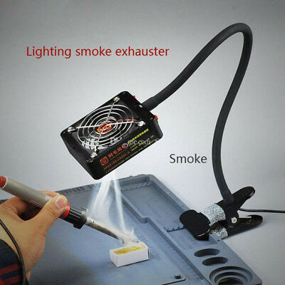 Flexible Soldering Fume Smoke Extractor Fan With LED Light