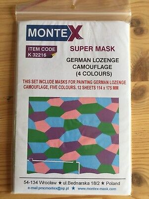 Montex Super Mask K32216 - German Lozenge Camouflage 4 Colours - 1:32