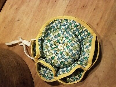 Old Vintage Antique Style Sewing Pin Cushion 1930's Or 40's Nice