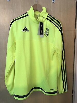 Adidas Real Madrid Players Adult Training Zip Top - size S - BNWT