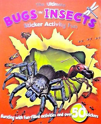 Bugs And Insects | Stickers | Dot-To-Dot | Kids Activity Book | Games | New