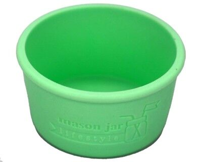 (2, Mint Green) - MJL Wide Mouth Half Pint Silicone Sleeve for Kerr Mason Jars