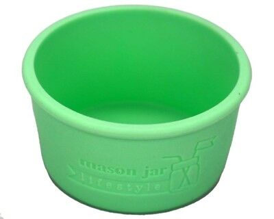 (1, Mint Green) - MJL Wide Mouth Half Pint Silicone Sleeve for Kerr Mason Jars