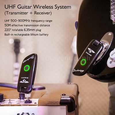 SWIFF WS-50 UHF Digital Guitar Wireless System for Electric Guitar O8C6
