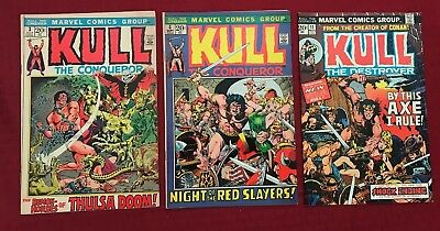 Kull the Conqueror lot #3, VG+, 4, VG/FN, 11, FN/VF 1972-73, Marvel)