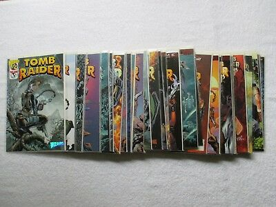 Lot Of 32 Tomb Raider Comics # 1/2, 1 To 10, Journeys 1B Hughes, Monster War, +